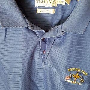 Ryder Cup XXL Golf Shirt Tehama Clint Blue